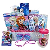 Easter Gift Basket Idea 10 Frozen Themed Items for Girls With Bracelet, Novelties, Tin Purse, Diary, Nail and Hair Accessories
