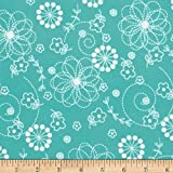 Kimberbell Little One Flannel Too! Doodles Teal Fabric By The Yard