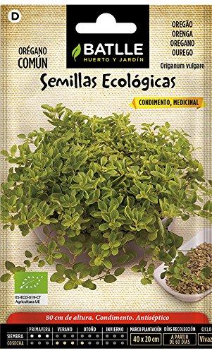 Semillas Ecológicas Aromáticas - Orégano Común - ECO – Batllehttps://amzn.to/2RTfO7N