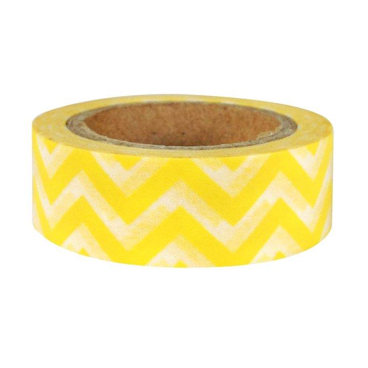 Striped Japanese Washi Masking Tape - Yellow Chevron