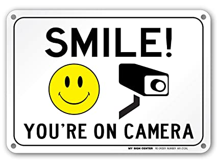 Image result for smile you're on camera