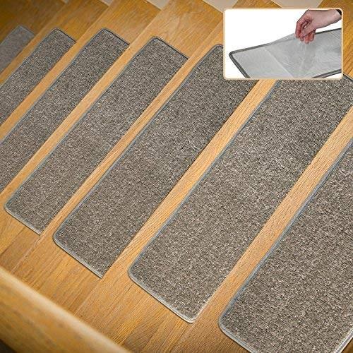 30 X 8 Inch Stair Treads Non Slip Carpet Indoor Set Of 13 Grey   Grey Carpet Treads For Stairs   Bullnose Carpet   Flooring   Magma Grey   Skid Resistant   Carpet Runner