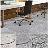 Office Chair Mat for Carpeted Floors | Desk Chair Mat for Carpet | Clear PVC Mat in Different Thicknesses and Sizes for Every Pile Type | Medium-Pile 30'x48'