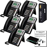 XBLUE X25 Phone System (C2505) with (5) X3030 IP Phones - Auto Attendant, Voicemail, Caller ID, Paging & Remote Phones