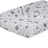 Babies R Us Gray Neutral Clover Printed Quilted Changing Pad Cover