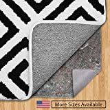 GORILLA GRIP Original Felt and Rubber Underside Gripper Area Rug Pad .25 Inch Thick, 8x11 FT, Made in USA, for Hardwood and Hard Floor, Plush Cushion Support Pads for Under Carpet Rugs, Protects Floor