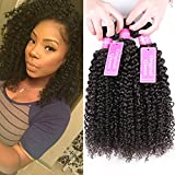 Original Queen 100% Brazilian Unprocessed Virgin Kinky Curly Human Hair Weave 3 Bundles Deep Curly Hair Extensions Mixed Length 20 22 24inches