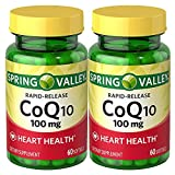 Spring Valley Co Q-10 100mg Heart Health Supplement, 120 Softgels