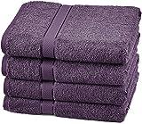 Pinzon Egyptian Cotton Bath Towel Set (4 Pack) - Plum