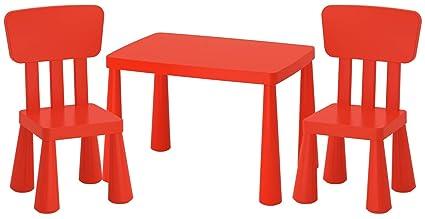 Ikea Mammut Ik15 Czer Set Tavolo E 2 Sedie Per Bambini