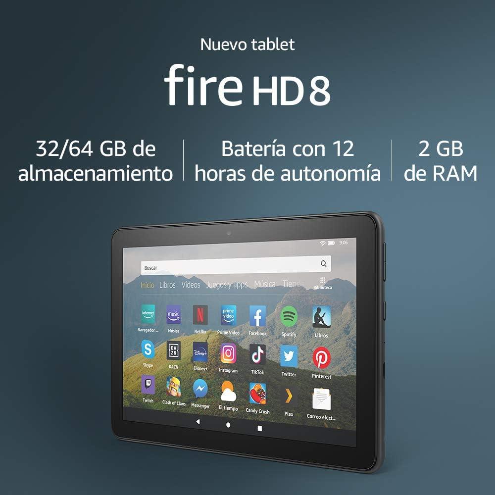 Nuevo tablet Fire HD 8, pantalla HD de 8 pulgadas,