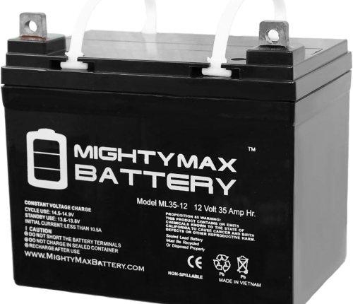 Mighty Max Battery ML35-12 - 12V 35AH U1 Deep Cycle Solar Battery