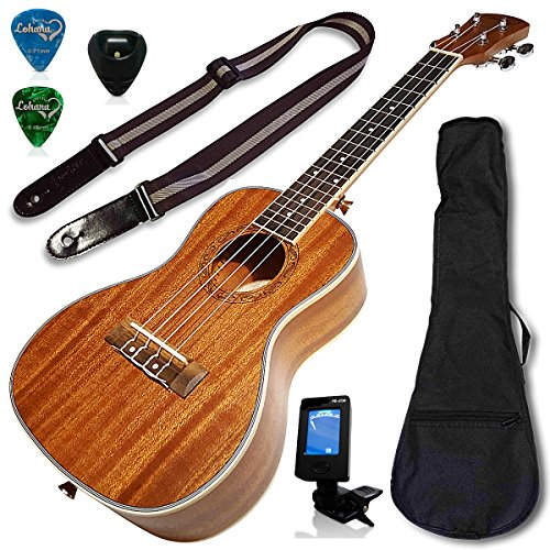 Ukulele Concert Size Bundle From Lohanu (LU-C) 2 Strap Pins Installed FREE Uke Strap Case Tuner Picks Pick Holder Aquila Strings Installed Free Video Lessons BEST UKULELE BUNDLE DEAL Purchase Today...