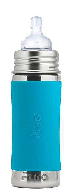 Pura Kiki 11 Oz / 325 Ml Stainless Steel Infant Bottle With Silicone Medium