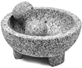 IMUSA USA MEXI-2011M Super Heavy Traditional Granite Molcajete Spice Grinder, 8-Inch, Gray
