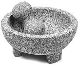 IMUSA USA MEXI-2011M Super Heavy Traditional Granite Molcajete Spice Grinder, 8-Inch, Gray