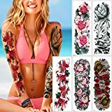 5 Sheets 48x17cm Big Large Full Arm Tattoo Body Sticker Temporary Flower New
