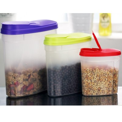 Gloria Vanderbilt 3pc Cereal Dispenser Container Set