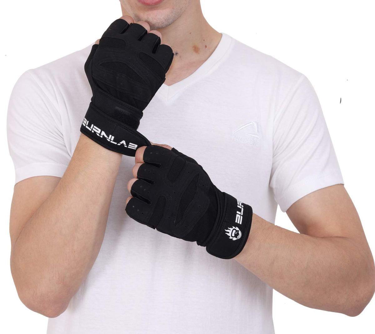 Burnlab Basic Gym Gloves with Wrist Support