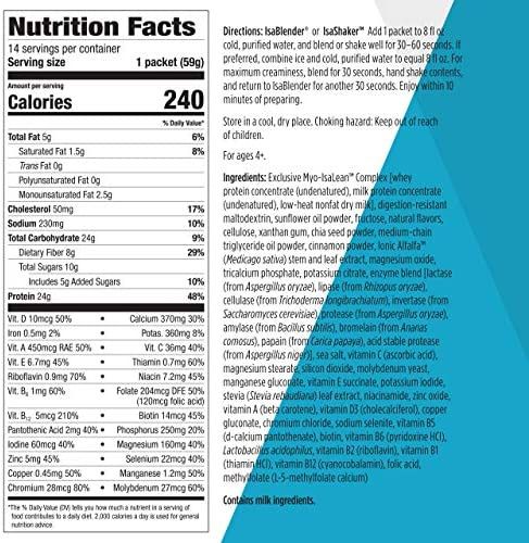 Isagenix IsaLean Shake - Complete Superfood Meal Replacement Drink Mix for Healthy Weight Loss and Lean Muscle Growth - 826 Grams - 14 Meal Packets (Creamy French Vanilla Flavor) 2
