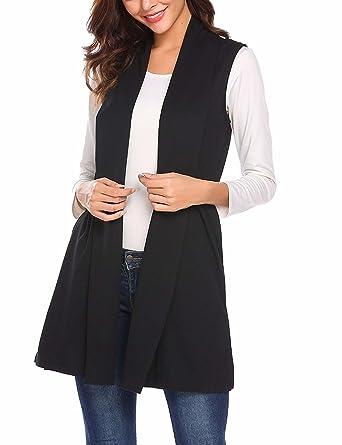 Amazon Fashion Sleeveless Long Cardigan