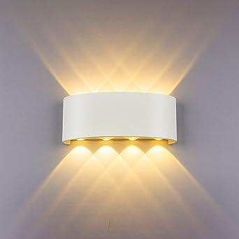 Modern Wall Light 8w White Led Sconce Up Down Wall Lamp Aluminium Led Waterproof Spot Light Night Lamp For Living Room Bedroom Hallway Bathroom Decorative Warm White Wall Wash Lights Amazon Co Uk Lighting