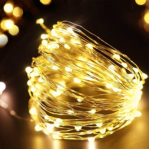 Fairy Moon Led String Lights Tiny Battery Pack : 2 Packs FOXNOV Waterproof Battery Operated 50 LED Fairy String Lights, 5 Modes, 5M/16.4Ft, Warm ...