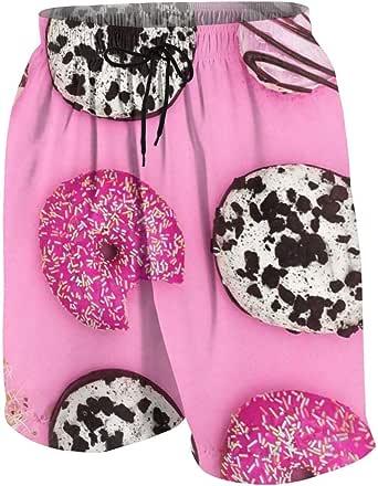 RTRTRT Shorts de Playa Sweet Donuts para jóvenes