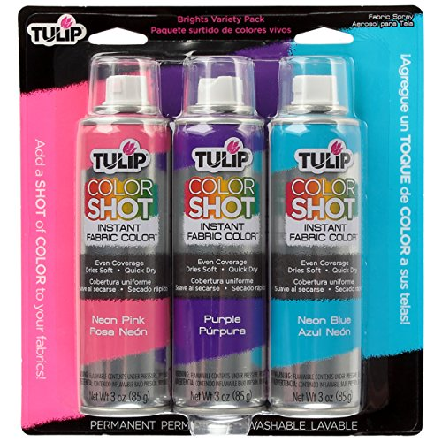 Tulip ColorShot Instant Fabric Color 3oz. Brights Variety 3 Pack