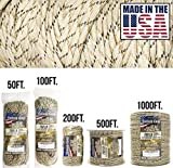 TOUGH-GRID 750lb Desert Camo Paracord/Parachute Cord - Genuine Mil Spec Type IV 750lb Paracord Used by The US Military (MIl-C-5040-H) - 100% Nylon - Made in The USA. 1000Ft. - Desert Camo