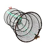 Fishing Net, Doubletwo Crawfish Nets Shrimp Collapsible Cast Net 25cm x 45cm