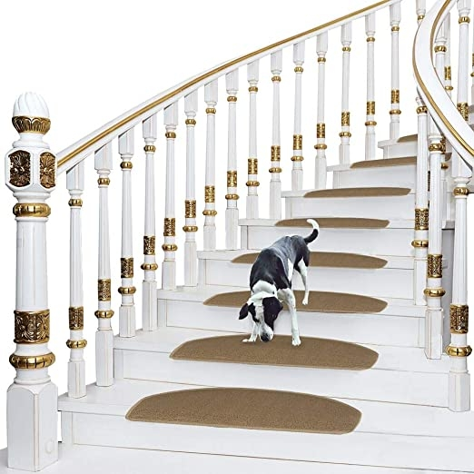 Amazon Com Comme Rug Non Slip Stair Treads Bullnose Carpet Stair   Durable Carpet For Stairs   Straight   Trendy   Different Style Stair   Hallway   Stair Residential