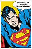"Superman - DC Comics Poster (Pop-Art - This Looks Like A Job For Superman!) (Size: 24"" x 36"")"