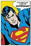 "Superman - DC Comics Poster (Pop-Art - This Looks Like A Job For Superman!) (Size: 24"" x 36"")"