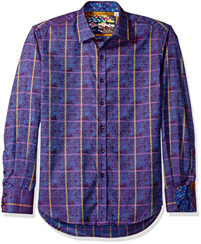 61BF0YwhjoL Signature knowledge, wisdom, truth in placket Robert Graham collar stays