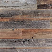 Epic Artifactory Reclaimed Barn Wood Wall Panel- Easy Peel and Stick Application (1 Sq Ft, Reclaimed Barn Wood)