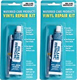 Blue Magic Waterbed/Air Mattress Vinyl Repair Kit: Fast Drying Adhesive and Patches, 2 Pack