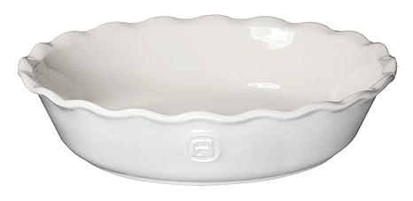 Emile Henry 9 Inch Pie Dish, White