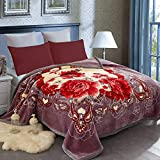 JML Fleece Blanket King(85'x93', 10lbs), Korean Heavy Blanket - Plush Soft Warm 2 Ply Printed Raschel Bed Blanket