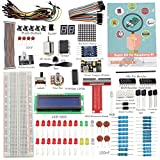 SunFounder Project Super Starter Kit for Raspberry Pi 3, 2, Zero & Model B+, A+ w/ 40-Pin GPIO Extension Board, L293D, DC Motor, 7-Segment, Dot Matrix Display - Including 73 Page Instructions Book