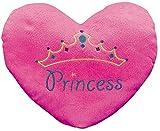 """Princess"" Heart Pillow (with the Princess Embroiding) 13 1/2' X 11'. Plush."