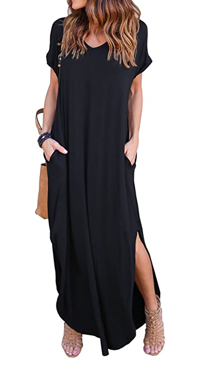 Traje informal negro para mujer tipo vestidohttps://amzn.to/2QuNtrp