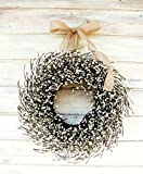 Farmhouse Wreath, Fall Wreath, Winter Wreath, Summer Wreath, Farmhouse Decor, White Wreath, Antique White Wreath,Year Round Wreath, Wedding Décor, Christmas Wreath, Housewarming Gift, Home Decor