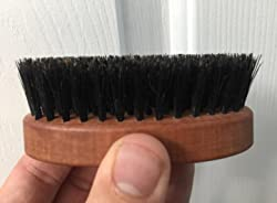 Seven Potions Beard Brush For Men With 100% First Cut Boar Bristles. Made in Pear Wood With Firm Bristles To Tame and Soften Your Facial Hair Customer Image 1