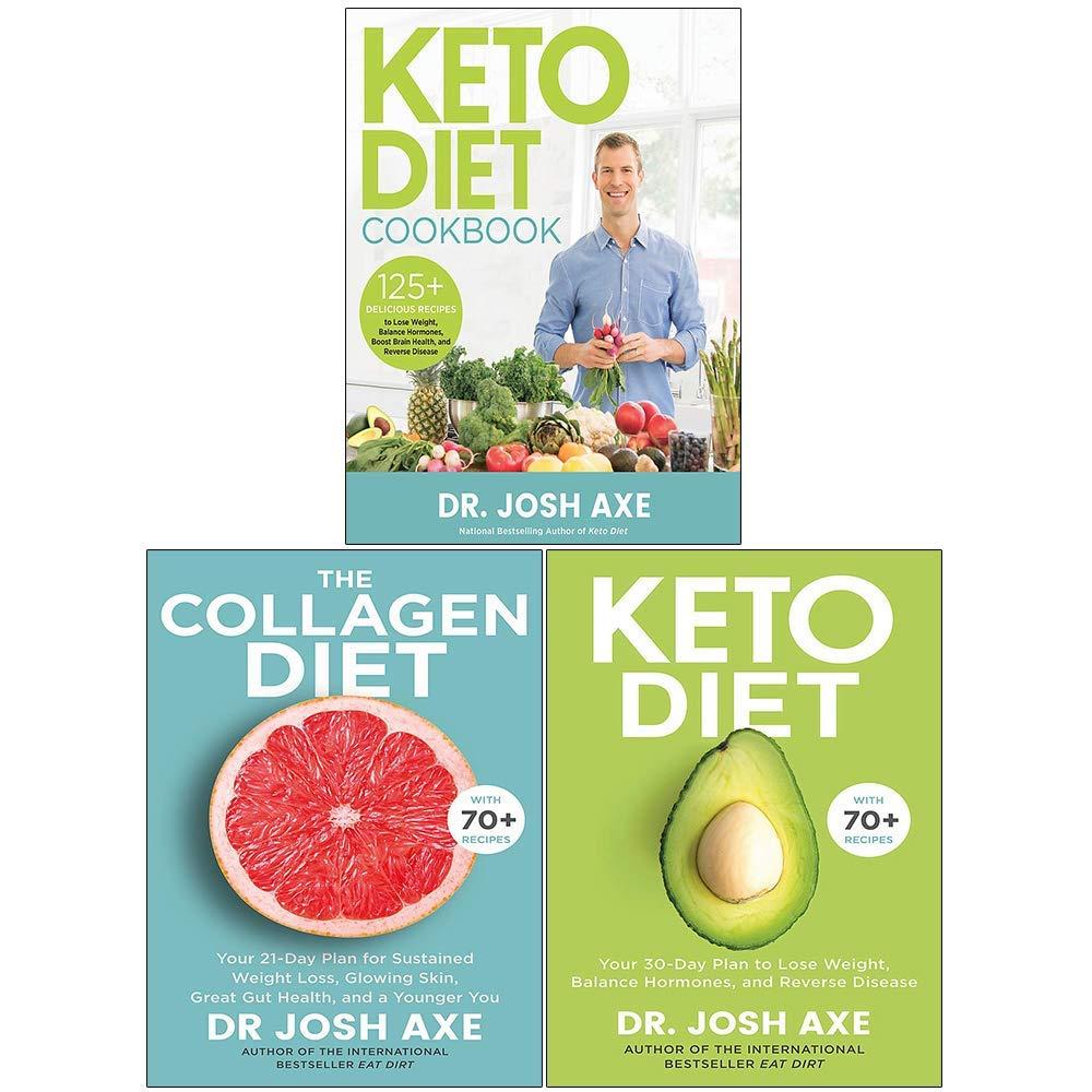 Dr Josh Axe 3 Books Collection Set (Keto Diet Cookbook, The Collagen Diet, Keto Diet) 1