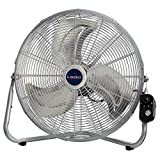 Lasko 20″ High Velocity QuickMount, Silver-Easily Converts from a Floor Wall Fan, 2265QM