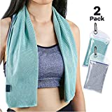 Sarissa Cooling Towel 2 Packs for Heat, ColdSnap Cooling Towel Neck Wrap - Ice Chill for Women, Baby, Athletes & Gardeners