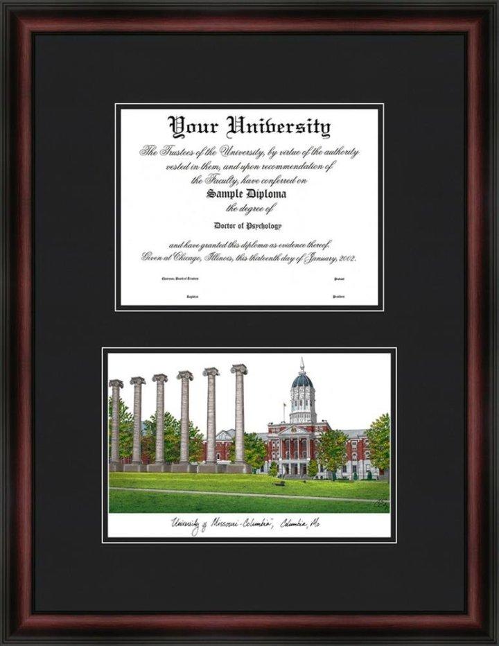 Columbia University Diploma Frame Lithograph | Frameswall.co