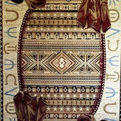 Western Boot Hat Area Rug 8 x 11