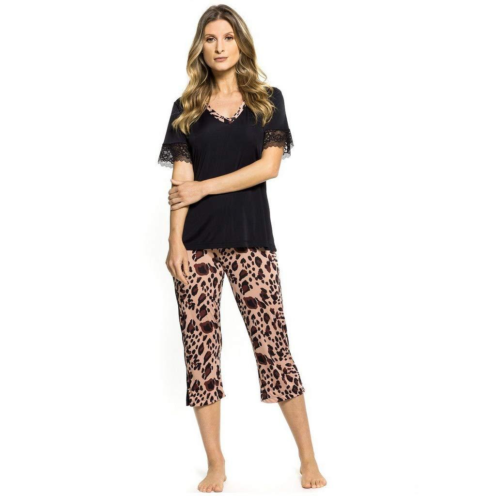 Pijama Feminino Capri Animal Print
